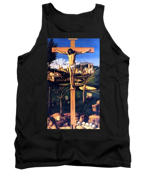 Tank Top featuring the painting The Crucifixion 1503 Giovanni Bellini by Karon Melillo DeVega