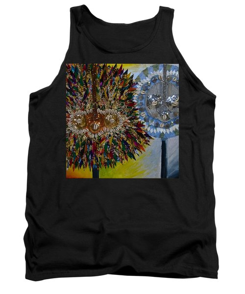 Tank Top featuring the tapestry - textile The Egungun by Apanaki Temitayo M