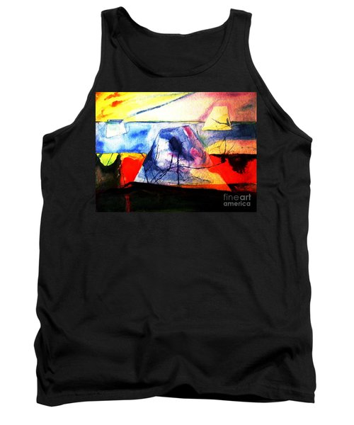 Tank Top featuring the painting The Fabric Of My Heart by Hazel Holland