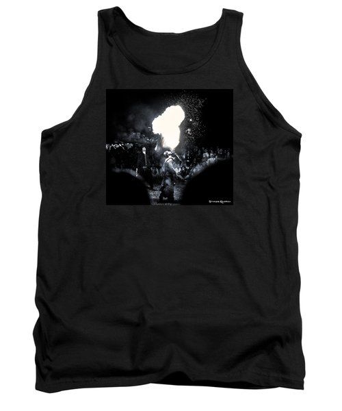 Tank Top featuring the photograph The Flare Thrower by Stwayne Keubrick
