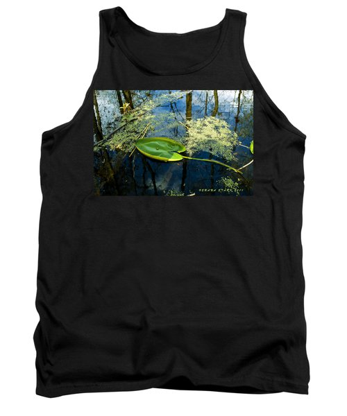 Tank Top featuring the photograph The Floating Leaf Of A Water Lily by Verana Stark