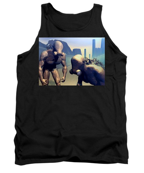 Tank Top featuring the digital art The Future Ancients by John Alexander