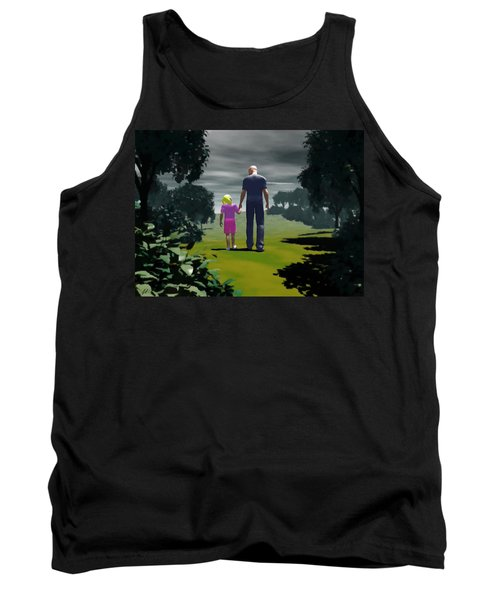 Tank Top featuring the digital art The Gift Of Being 'daddy' by John Alexander
