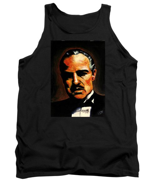 Tank Top featuring the painting Godfather by Salman Ravish