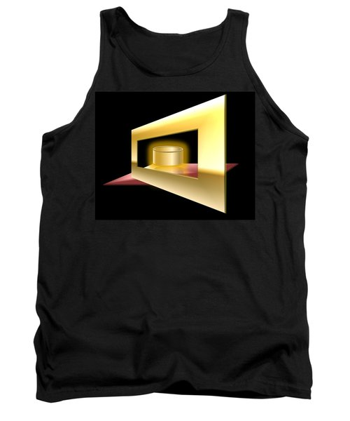 Tank Top featuring the digital art The Golden Can by Cyril Maza