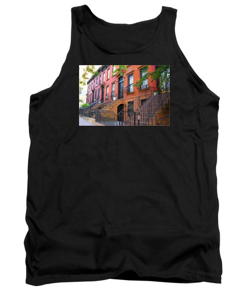 The Historic Brownstones Of Brooklyn Tank Top by Dora Sofia Caputo Photographic Art and Design
