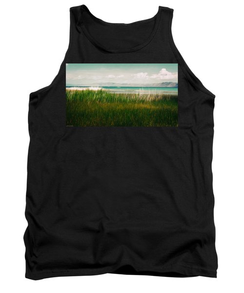 The Lake - Digital Oil Tank Top by Mary Machare