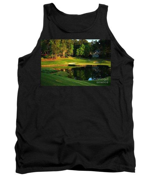 Golf At The Landing #3 In Reynolds Plantation On Lake Oconee Ga Tank Top by Reid Callaway
