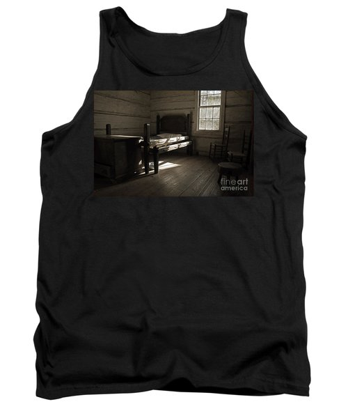 Tank Top featuring the photograph The Log Cabin C.1785 by Robert Meanor