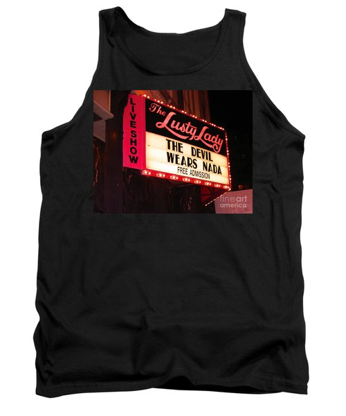 Tank Top featuring the photograph The Lusty Lady by Kym Backland