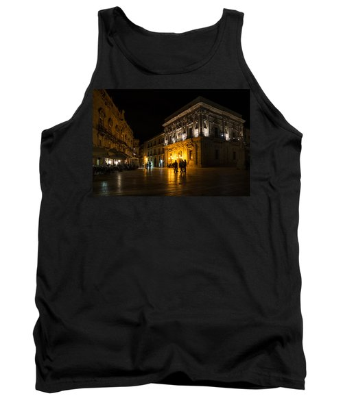 Tank Top featuring the photograph The Magical Duomo Square In Ortygia Syracuse Sicily by Georgia Mizuleva