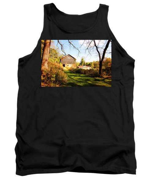 Tank Top featuring the photograph The Old Barn by Trina  Ansel
