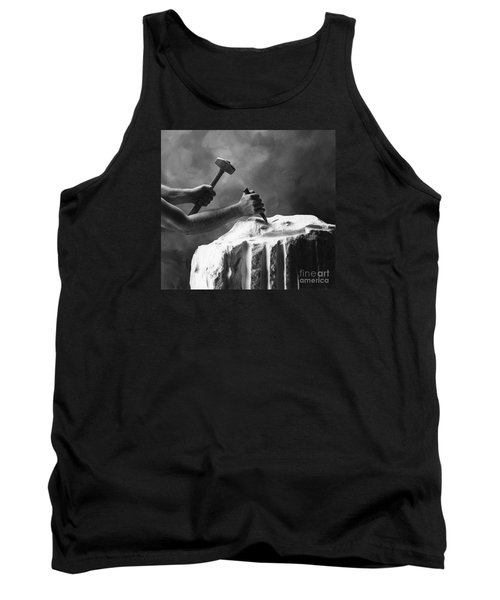 Tank Top featuring the photograph Chipping The Old Block by Mark Greenberg
