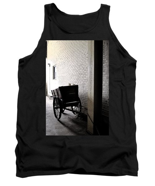 Tank Top featuring the photograph The Old Cart From The Series View Of An Old Railroad by Verana Stark