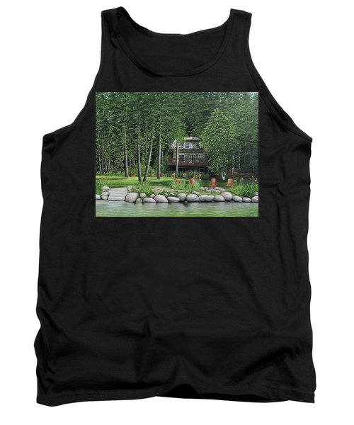 The Old Lawg Caybun On Lake Joe Tank Top by Kenneth M  Kirsch