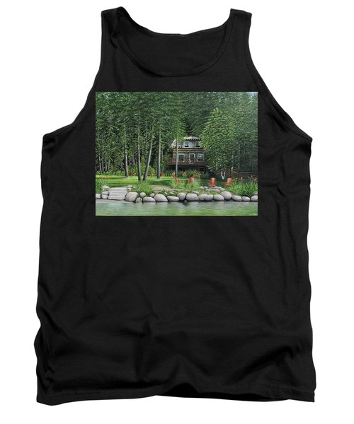 The Old Lawg Caybun On Lake Joe Tank Top