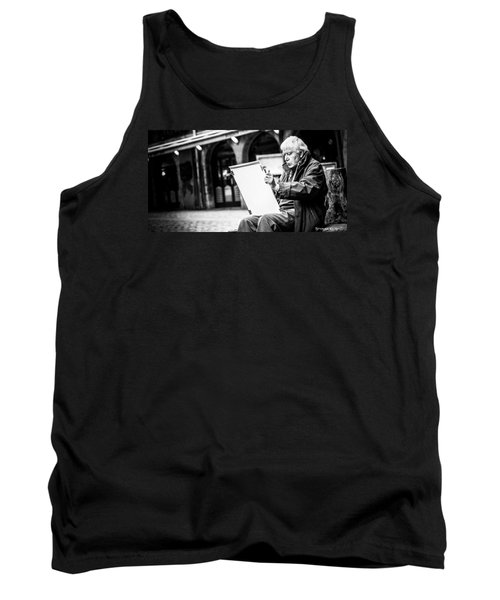 Tank Top featuring the photograph The Old Man Painter II by Stwayne Keubrick