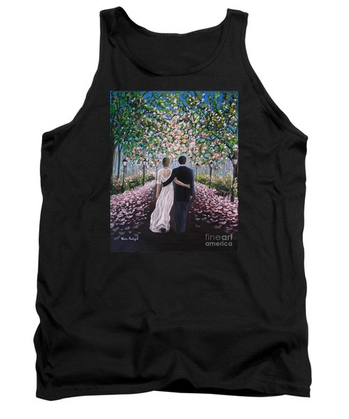 Tank Top featuring the painting The Path Of Love  by Vesna Martinjak