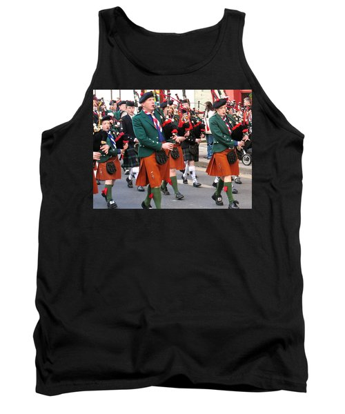 Tank Top featuring the photograph The Pipers by Suzanne Oesterling