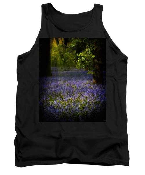 Tank Top featuring the photograph The Pixie's Bluebell Patch by Chris Lord
