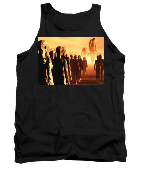 Tank Top featuring the digital art The Post Apocalyptic Gods by John Alexander