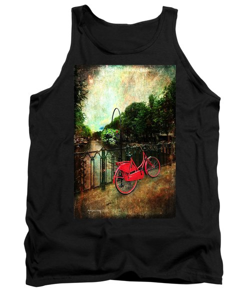 The Red Bicycle Tank Top by Randi Grace Nilsberg