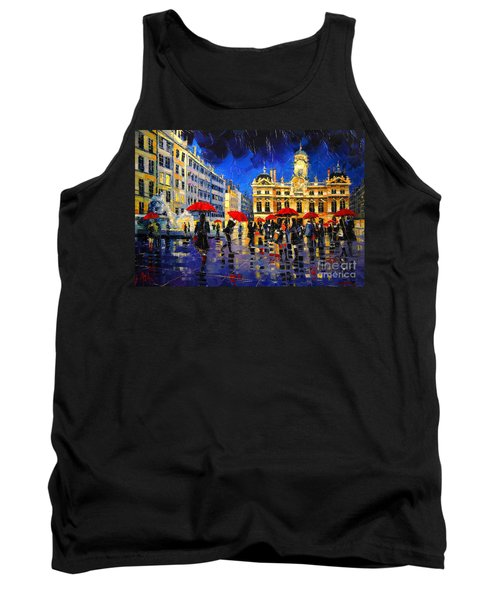 The Red Umbrellas Of Lyon Tank Top