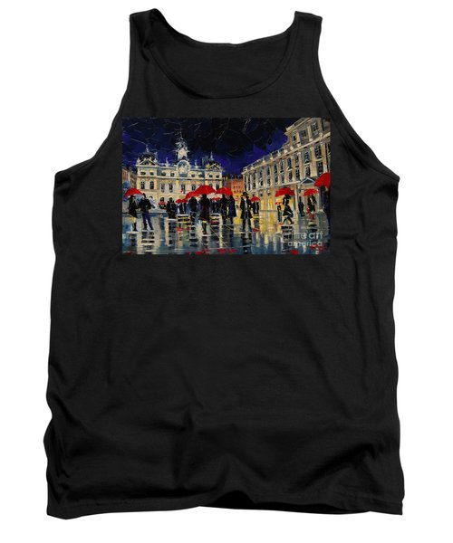 The Rendezvous Of Terreaux Square In Lyon Tank Top