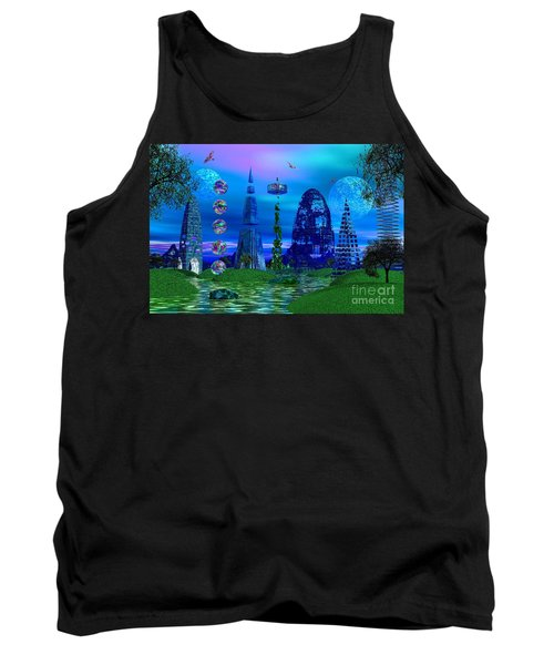 Tank Top featuring the photograph The River Quinque by Mark Blauhoefer