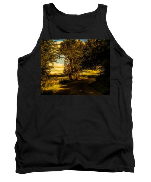 Tank Top featuring the photograph The Road To Litlington by Chris Lord
