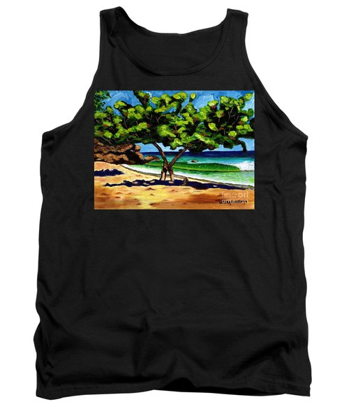 Tank Top featuring the painting The Sea-grape Tree by Laura Forde