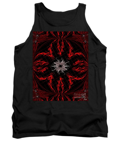 The Spider's Web  Tank Top by Roz Abellera Art