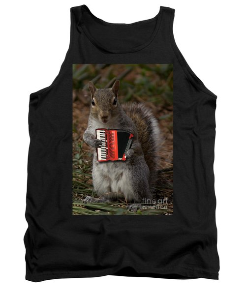 The Squirrel And His Accordion Tank Top