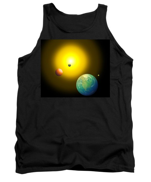 Tank Top featuring the digital art The Sun by Cyril Maza