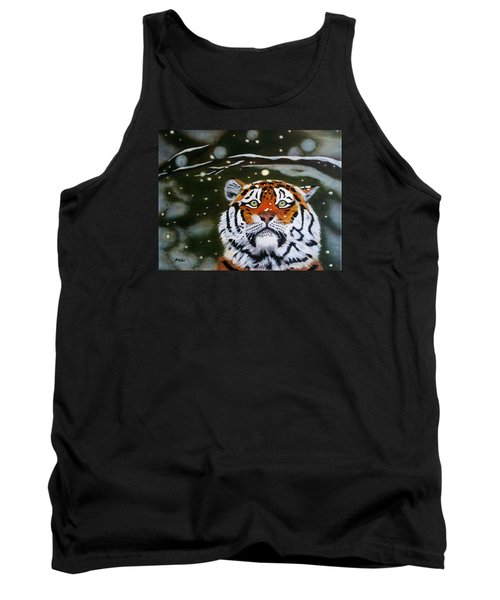 The Tiger In Winter Tank Top