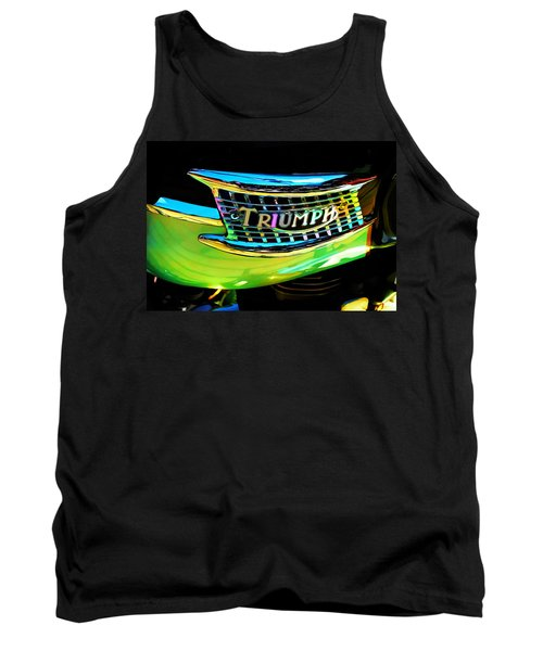 The Triumph Petrol Tank Tank Top by Steve Taylor