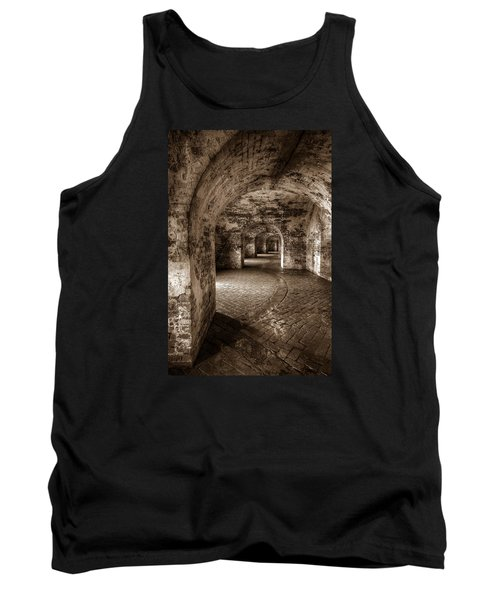 Tank Top featuring the photograph The Tunnels Of Fort Pike by Tim Stanley