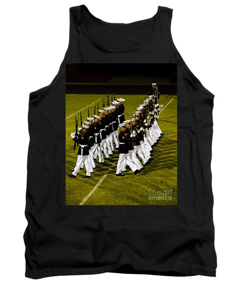 The United States Marine Corps Silent Drill Platoon Tank Top by Robert Bales