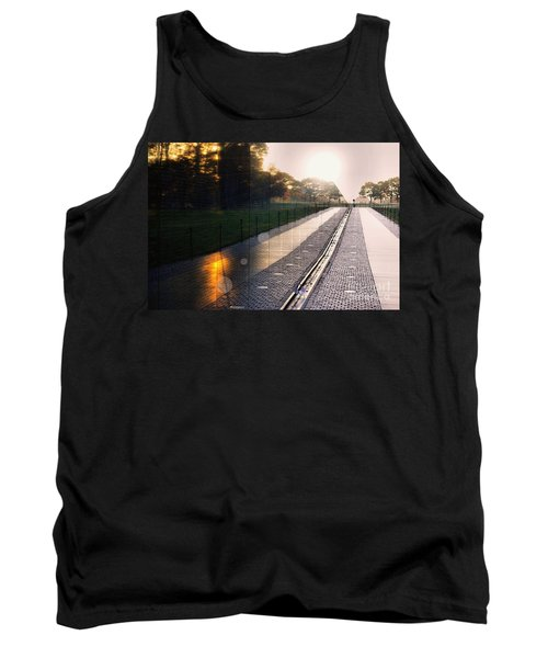 Tank Top featuring the photograph The Vietnam Wall Memorial  by John S