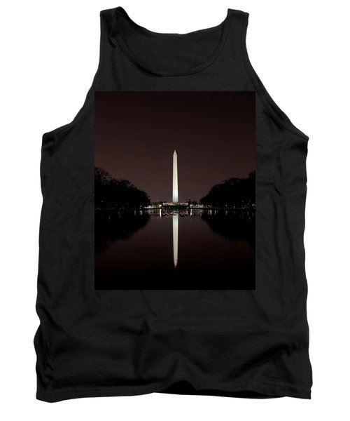 The Washington Monument - Reflections At Night Tank Top