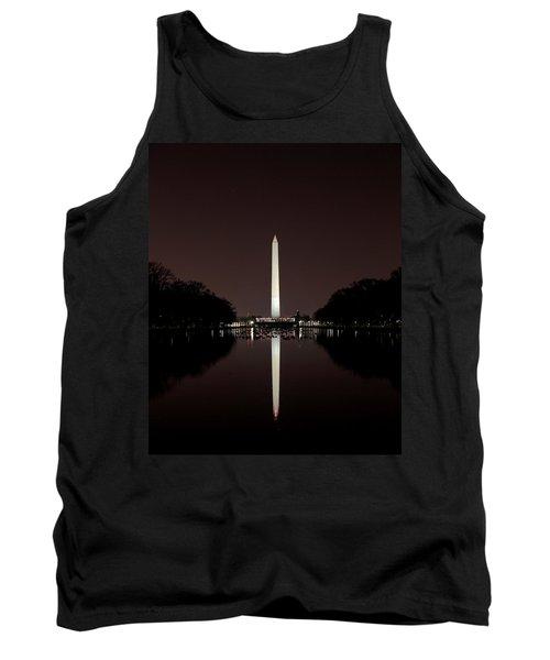 The Washington Monument - Reflections At Night Tank Top
