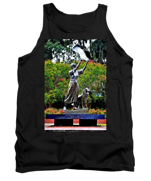The Waving Girl Of Savannah Tank Top