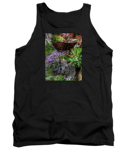 Tank Top featuring the photograph The Whimsical Wheelbarrow by Thom Zehrfeld