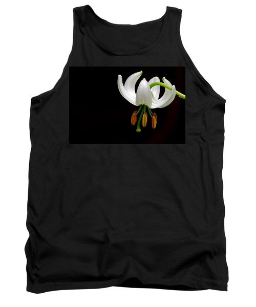The White Form Of Lilium Martagon Named Album Tank Top by Torbjorn Swenelius