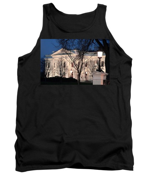 Tank Top featuring the photograph The White House At Dusk by Cora Wandel