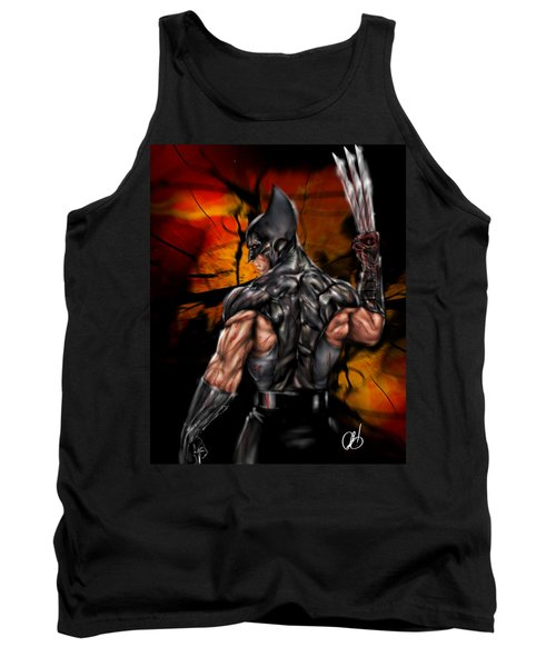 The Wolverine Tank Top by Pete Tapang