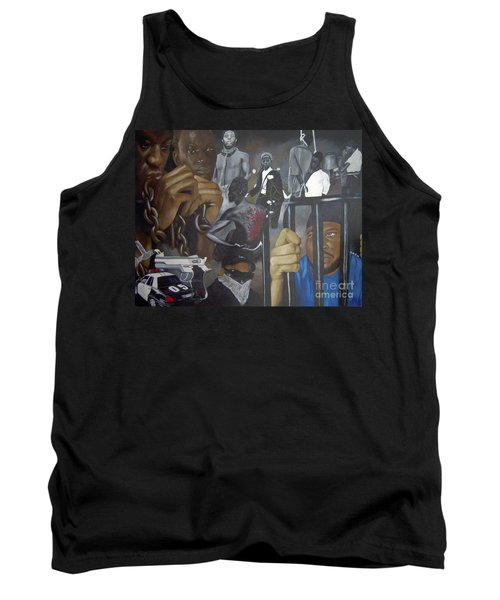 Think Black Man Tank Top by Chelle Brantley