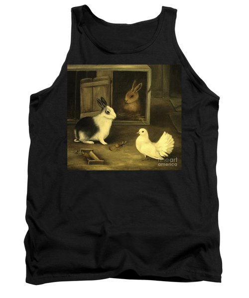 Three Friends Sharing A Moment Tank Top by Hazel Holland