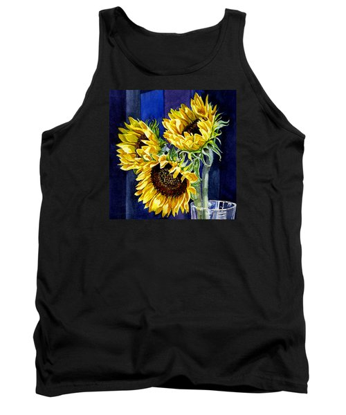 Three Sunny Flowers Tank Top
