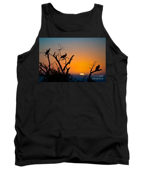 Three Vultures Waiting Tank Top
